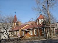 Деревянная церковь Покрова (Октябрьская, 9). 1901г.